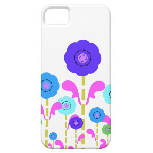Neon Colorful Flowers white iPhone 5 Case-Mate