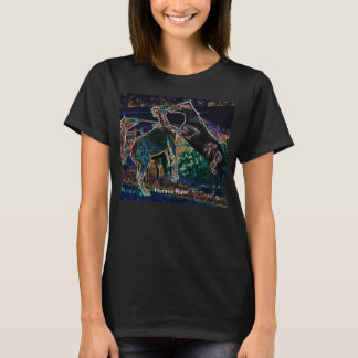 Neon colorful horses rearing playing Shirts