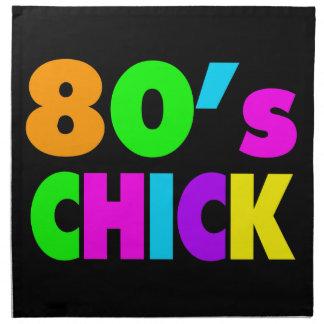 Neon Colors 80's Chick Cloth Napkin