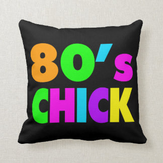 Neon Colors 80's Chick Pillows