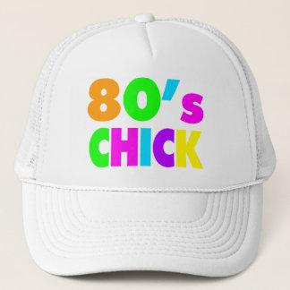 Neon Colors 80's Chick Trucker Hat