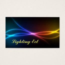 Neon Colors Business Cards Customize Title & Text