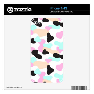 Neon colors camouflage pattern skins for the iPhone 4