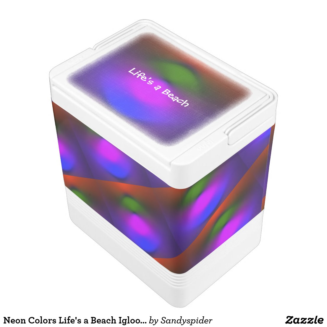 Neon Colors Life's a Beach Igloo Can Cooler ZSSPG