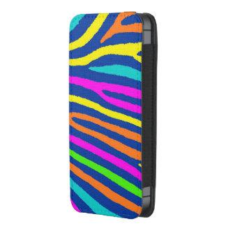 Neon colors zebra stripe iphone pouch