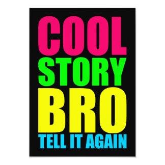 Neon Cool Story Bro Card