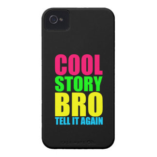 Neon Cool Story Bro iPhone 4 Case-Mate Case