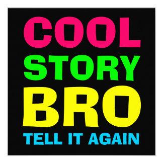 Neon Cool Story Bro Invitation