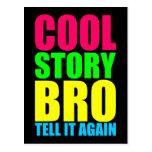 Neon Cool Story Bro Postcard