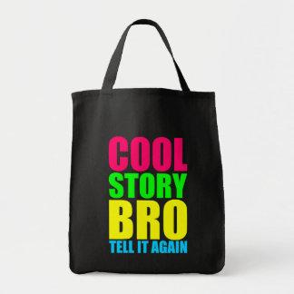 Neon Cool Story Bro Tote Bag