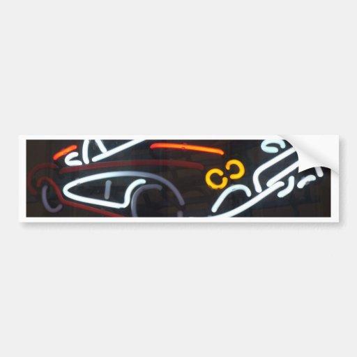 Neon Corvette Car Bumper Sticker