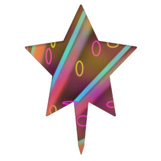 Neon Cosmic Pink Star Cake Pick