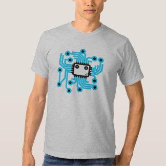 Neon CPU computer chip T-Shirt
