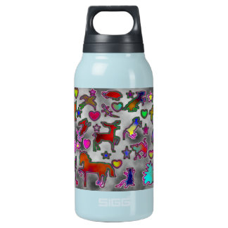Neon Critters Insulated Water Bottle