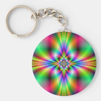 Neon Cross Keychain