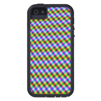 Neon Crosshatch small Case For iPhone SE/5/5s