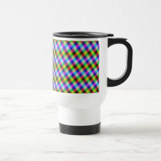 Neon Crosshatch Travel Mug