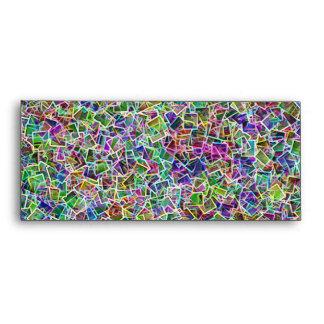 Neon cubism Light Envelopes