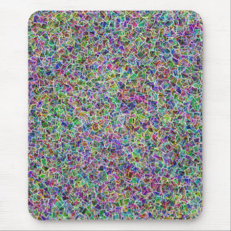 Neon cubism Light Mouse Pad