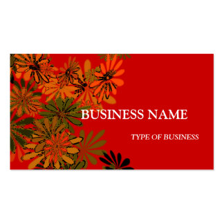 Neon Daisies Business Card Template