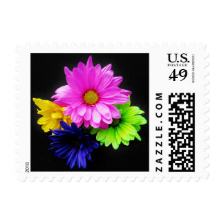 neon daisy stamps