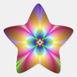 Neon Daisy Star Sticker