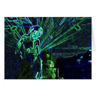 Neon Dancer blank notelet / card