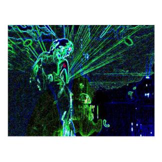 Neon Dancer postcard