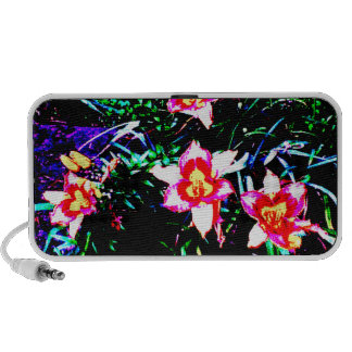 Neon Daylilies Portable Speakers