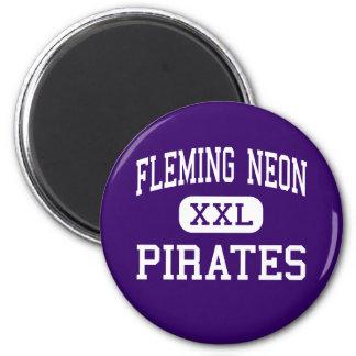 Neón de Fleming - piratas - alto - Kentucky de neó Imán Redondo 5 Cm