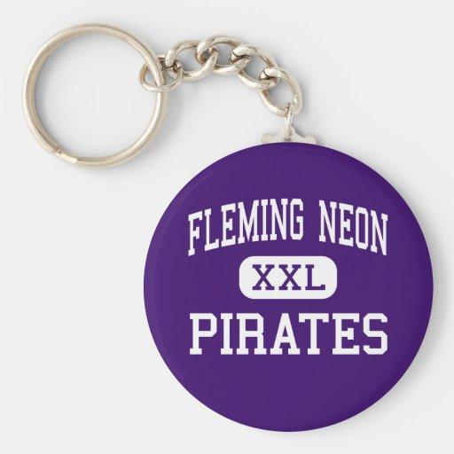 Neón de Fleming - piratas - alto - Kentucky de neó Llaveros