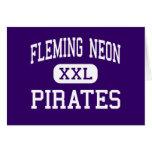 Neón de Fleming - piratas - alto - Kentucky de neó Felicitacion