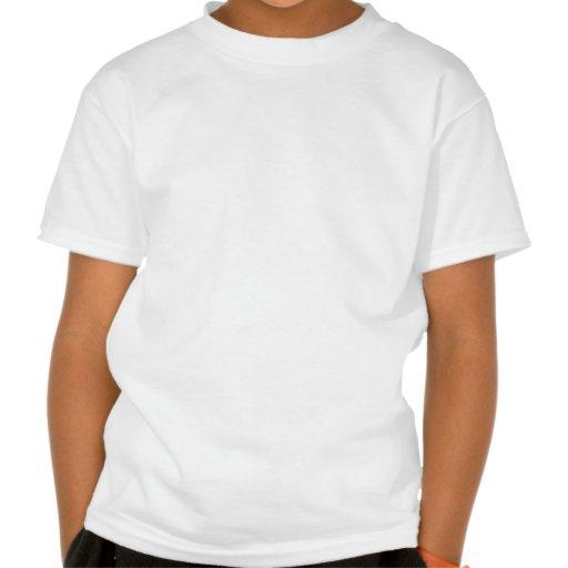Neón de la muestra de la travesía de ferrocarril camisetas