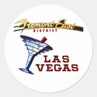 Neón de Las Vegas Pegatina Redonda