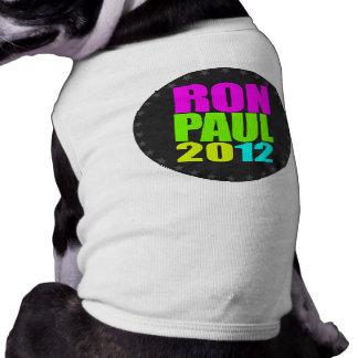 NEÓN DE RON PAUL 2012 PLAYERA SIN MANGAS PARA PERRO