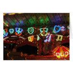 Neón del carnaval tarjeton