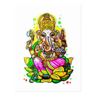 Neón del elefante de Ganesh del arte de la calle d Postales