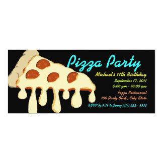 Neón del fiesta de la pizza invitación 10,1 x 23,5 cm