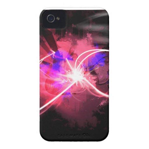 Neón del rosa del caso de Iphone Case-Mate iPhone 4 Carcasas