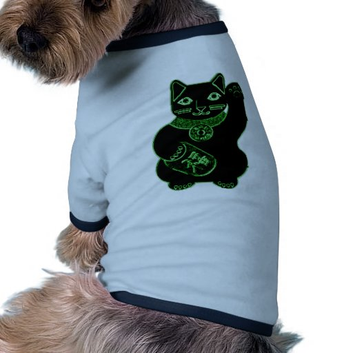 neón del verde del neko del maneki ropa para mascota