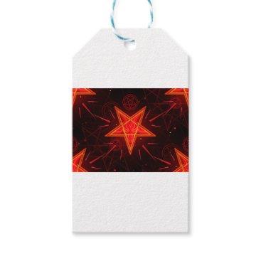 Halloween Themed neon demon gift tags