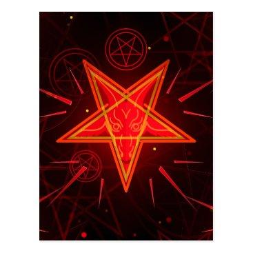 Halloween Themed neon demon postcard