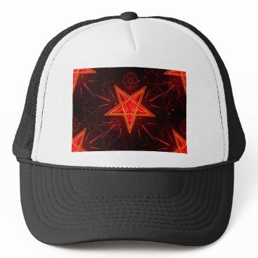 Halloween Themed neon demon trucker hat