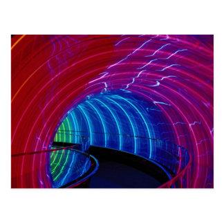 Neon design, marquee lighting postcard
