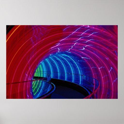 Neon design, marquee lighting poster
