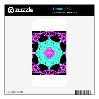 neon designs decal for iPhone 4