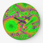 Neon Dichroic Psychedelic Wallclock
