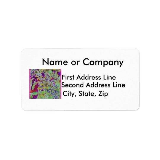Neon digitized flower floral design background label