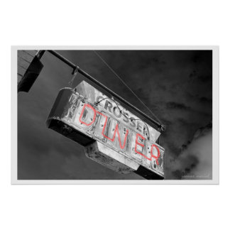 Neon Diner Sign Poster