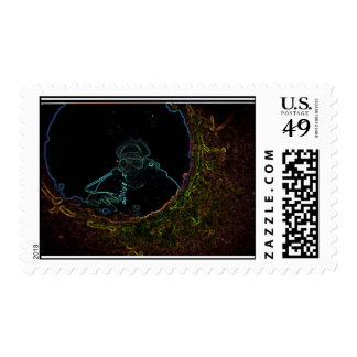 neon diver postage